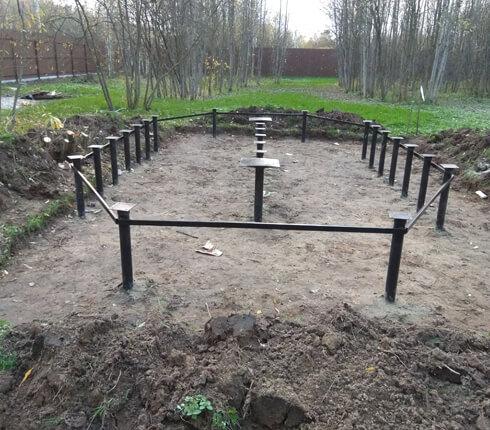 Сколько стоит фундамент под деревянный дом в Королёве